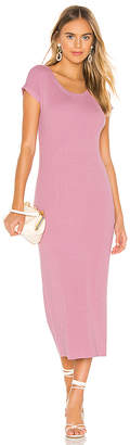 525 America Ribbed Short Sleeve Dress