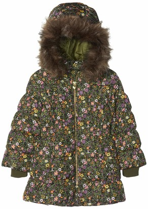 Name It Baby Girls' Nmfmolly Down Jacket AOP Camp