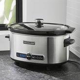 Crate & Barrel KitchenAid ® 6-Qt. Slow Cooker