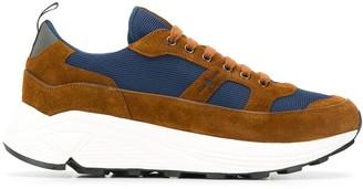 Car Shoe Contrast Low-Top Sneakers