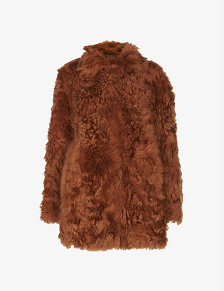 Whistles Eliza shearling coat