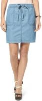 Tommy Hilfiger Final Sale- Drawstring Jean Skirt