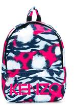 Kenzo tiger stripes logo backpack