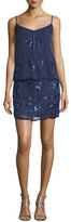Laundry by Shelli Segal Sleeveless Embellished Popover Dress, Inkblot