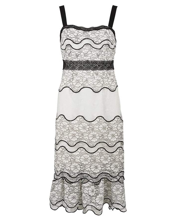 Foxiedox Lumma Tiered Lace Dress Colour: WHITE, Size: LARGE