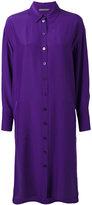 Alberta Ferretti midi shirt dress - women - Silk - 40