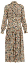Joseph Josie floral-print silk midi dress