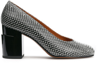 Clergerie Kenneth Snake-effect Leather Pumps