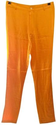 Joseph Orange Silk Trousers