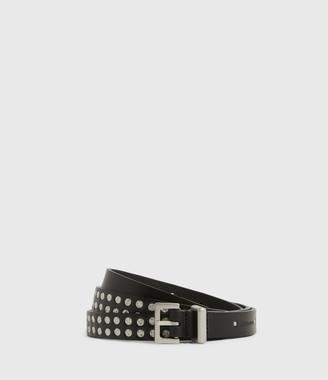 AllSaints Anya Skinny Leather Belt