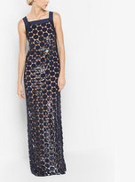 Michael Kors Sequined Guipure Dot Column Gown