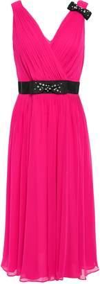 Kate Spade Wrap-effect Pleated Georgette Midi Dress