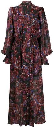 Balmain Scarf-Trimmed Buttoned Dress
