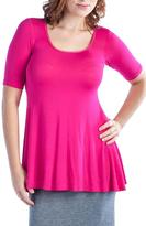 24/7 Comfort Apparel Scoop Neck Tunic