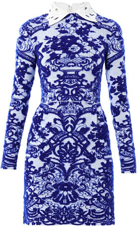 Valentino Delft intarsia-knit dress