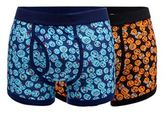 Red Herring Pack Of Two Black Face Print Keyhole Trunks