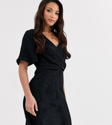 Y.A.S Tall Opia short sleeve knot front mini dress