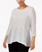 Alfani Plus Size Layered-Look Top, Created for Macy's