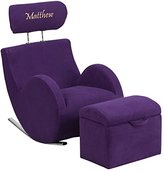 Flash Furniture Personalized Hercules Series Fabric Rocking Chair with Storage Ottoman