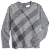 Burberry Check Wool Sweater (Little Girls & Big Girls)