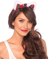 Leg Avenue Christmas Kitty Ear & Holly Berry Bow Headband