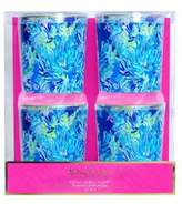 Lilly Pulitzer Wade & Sea Lo-Ball Glasses/Set of 4