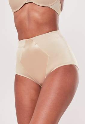 Missguided Premium Nude Satin Insert Control Knickers