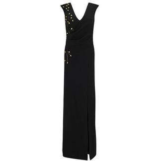 Ariella London Caitlyn Crepe Beaded Maxi Dress