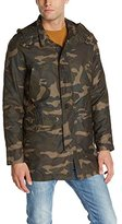 Cole Haan Men's Camo Military Parka Coat with Removable Faux-Shearling Liner
