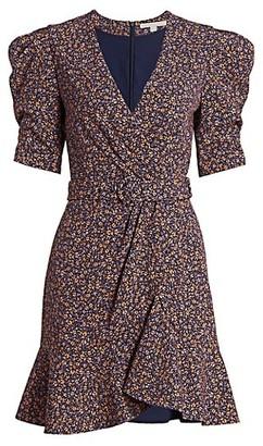Jonathan Simkhai Evelyn Puff-Sleeve Belted Flare Dress