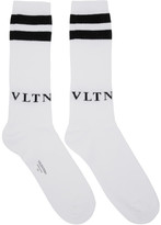 Valentino White and Black Garavani VLTN Socks