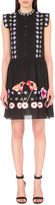 Temperley London Floral-embroidered cotton-blend dress