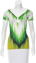 Roberto Cavalli Abstract Print Short Sleeve Top