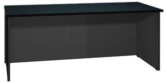 Ironwood Modular Reversible Desk Color: Oiled Cherry / Black