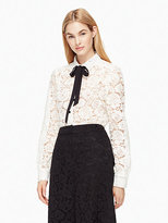 Kate Spade Bow tie lace shirt