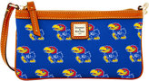 Dooney & Bourke Kansas Jayhawks Large Wristlet