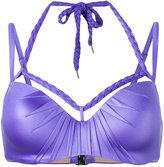 Marlies Dekkers Holi Glamour plunge balcony bikini top D-size + - women - Nylon/Spandex/Elastane - 70D
