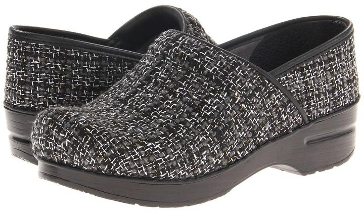 Dansko Vegan Pro (Black Chenille) - Footwear