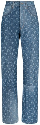 Marine Serre Mooned Regenerated Denim Jeans