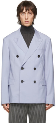 Lanvin Blue Wool Mohair Double-Breasted Blazer