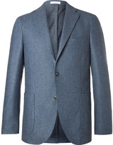 Boglioli - Blue Slim-fit Mélange Virgin Wool Blazer
