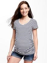 Old Navy Maternity Shirred V-Neck Tee