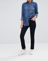Oasis Rinse Wash Mid Rise Slim Leg Jeans