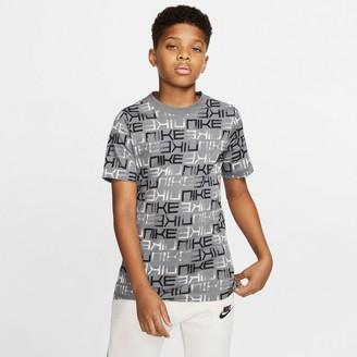 Nike Boys 8-20 Sportswear Printed Tee