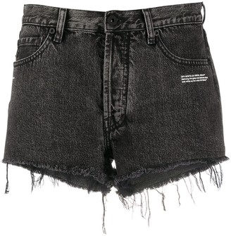 Off-White Frayed Denim Shorts