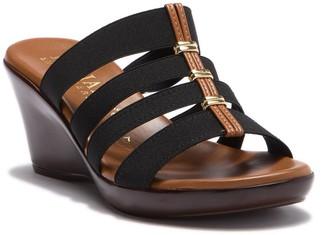 Italian Shoemakers Clover 4-Band Wedge Sandal