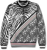 Dolce & Gabbana Printed Loopback Cotton-Jersey Sweatshirt