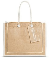 """Women's Tote Handbag with Removable """"Will You Be My Bridesmaid?"""" Tag - Beige"""
