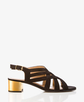 Forever 21 Strappy Mirrored Heel Sandals