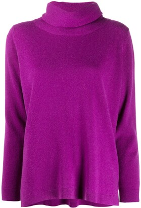 Allude Loose-Fit Roll-Neck Jumper